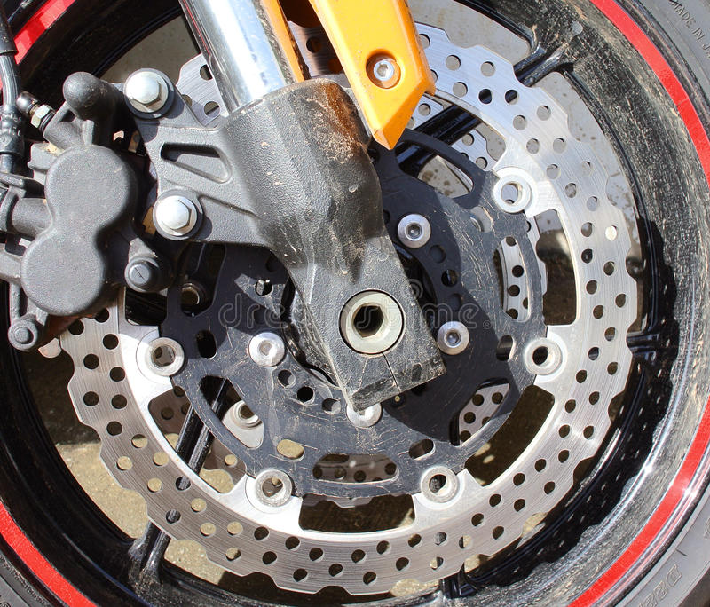 Motocyklu hamulec parowozowy talerzowy obrazy stock