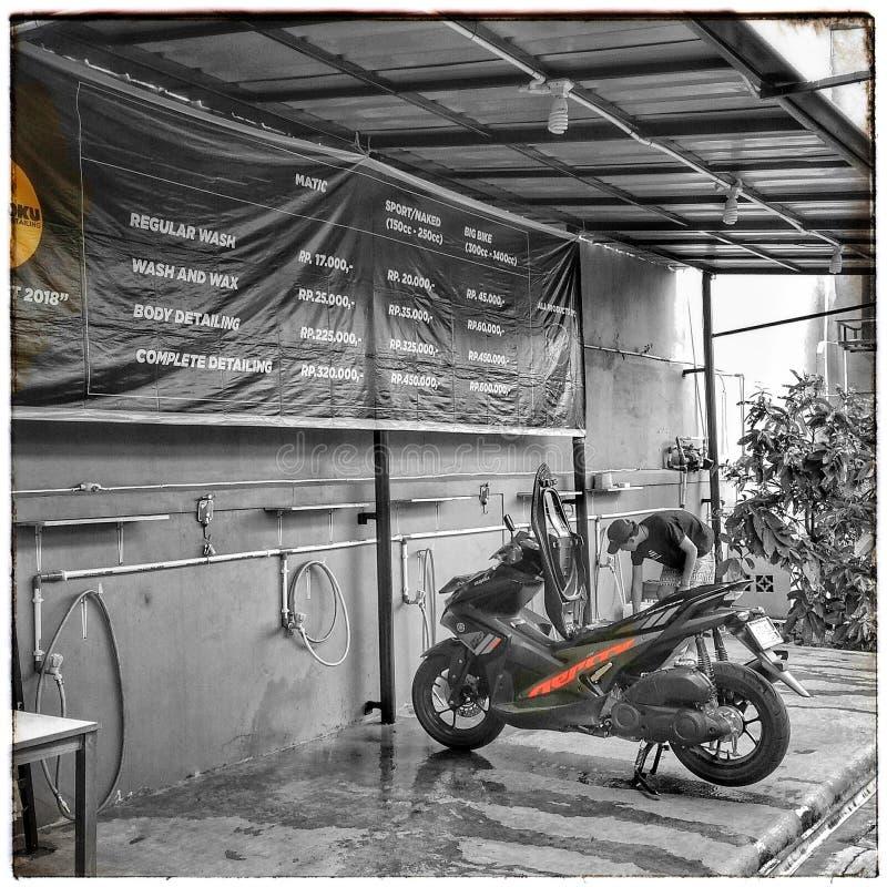 Motocyklu obmycie fotografia stock