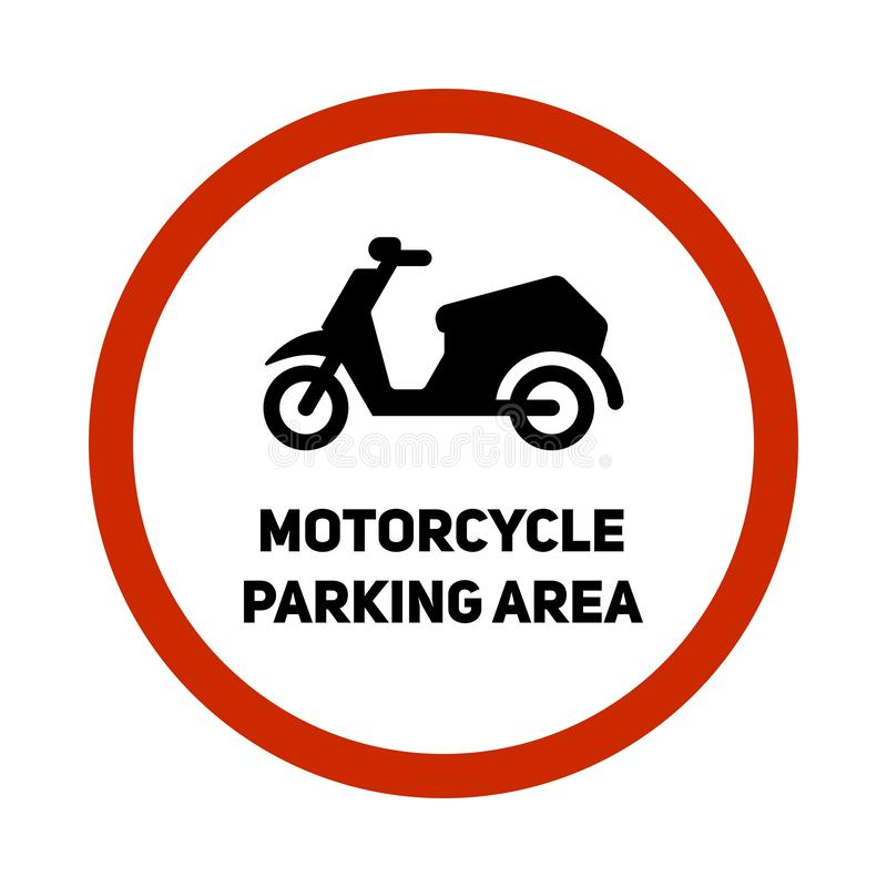 Motocyklu parking terenu znaka ikona ilustracja wektor