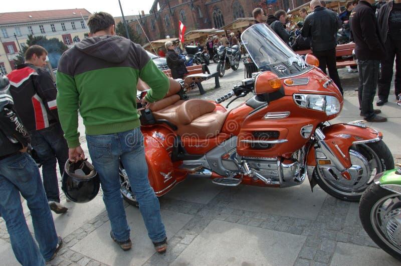 motocyklu Poland zlotny wroclaw fotografia royalty free