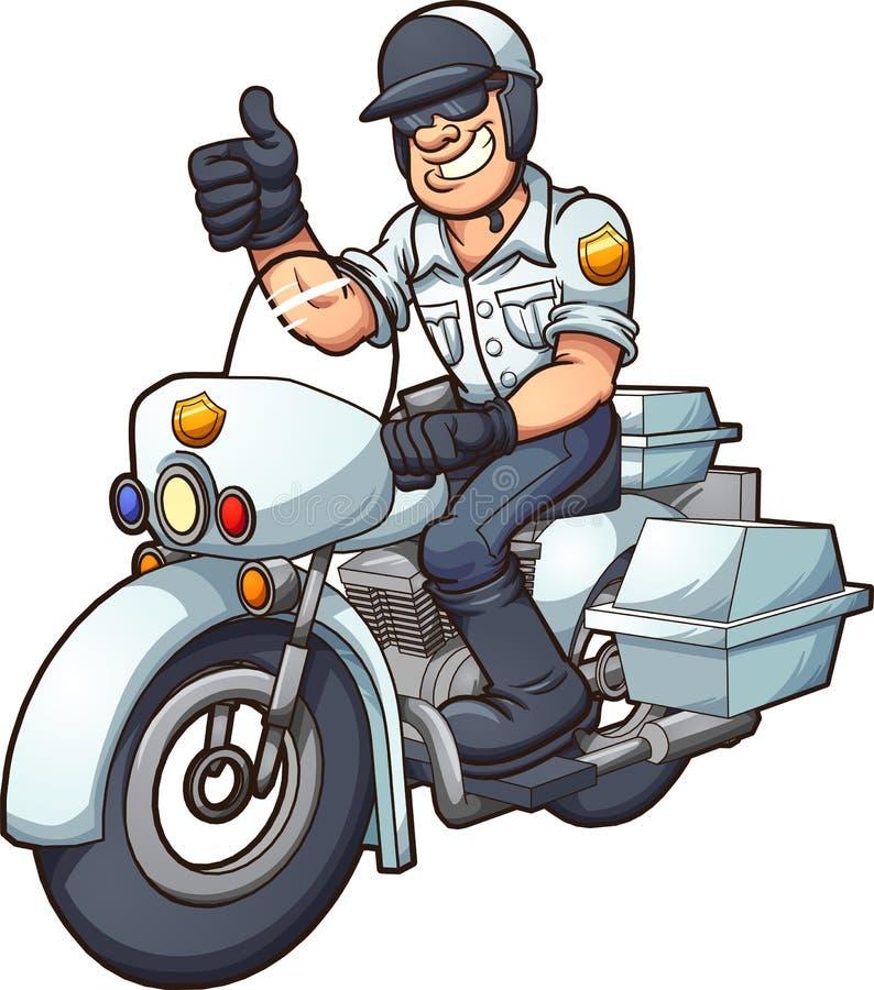 Motocyklu policjant ilustracji
