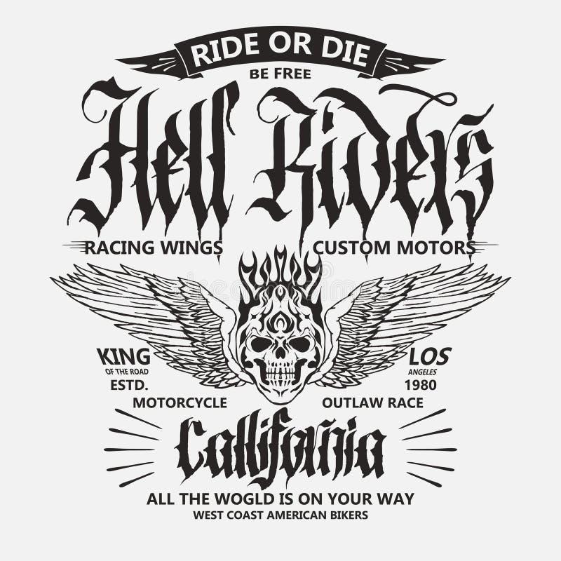 Motocyklu rowerzysty sporta koszulki emblemat wektor ilustracja wektor