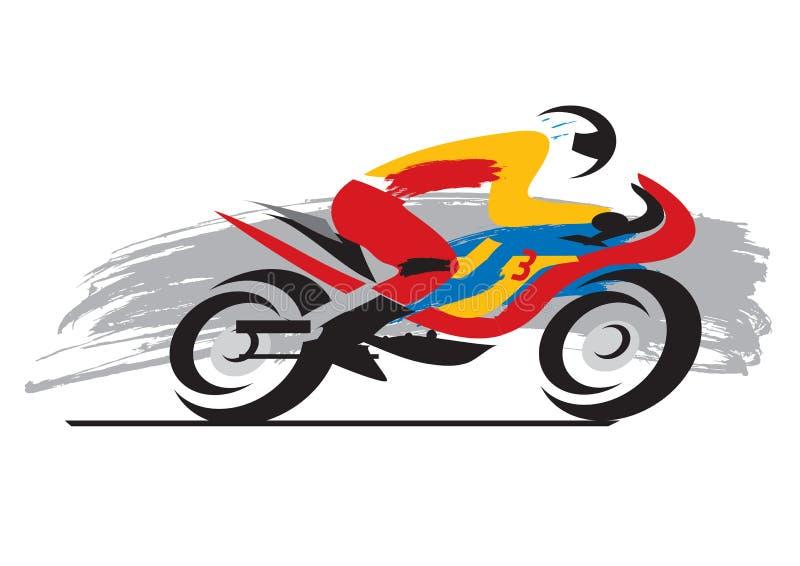 Motocyklu setkarz ilustracja wektor