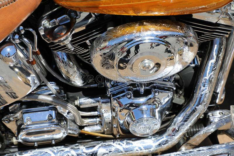 Motocyklu silnik Harley-Davidson fotografia stock