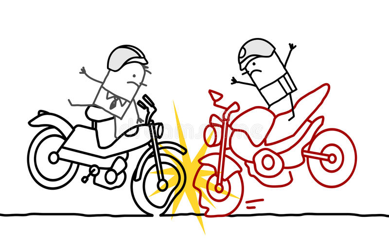 Motocyklu wypadek ilustracja wektor