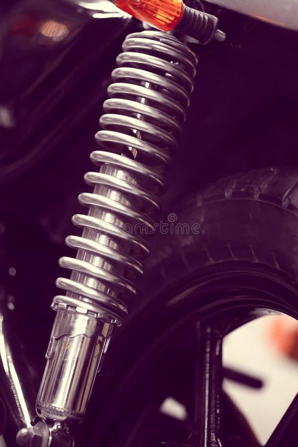 Download Motocyklu zawieszenie zdjęcie stock. Obraz złożonej z zaciemnia - 53778488