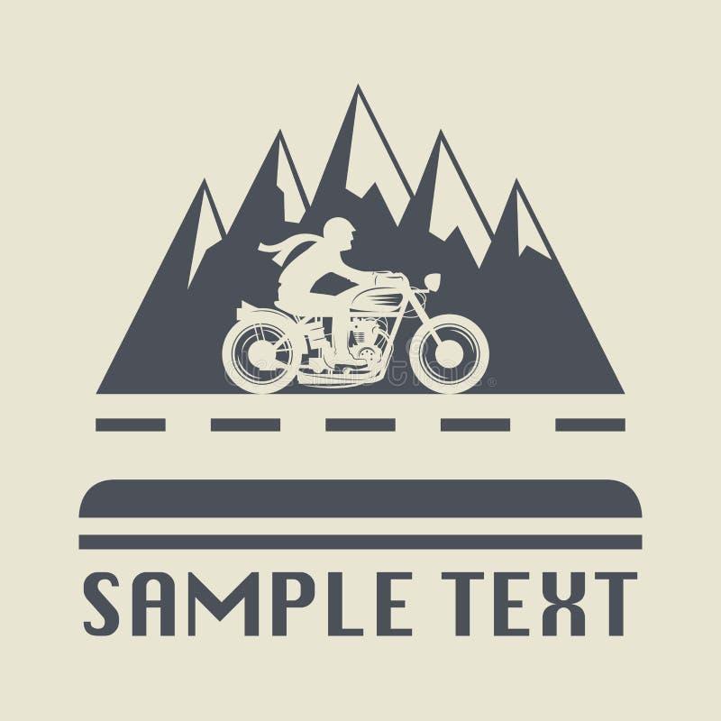 Motocyklu znak lub ikona ilustracja wektor