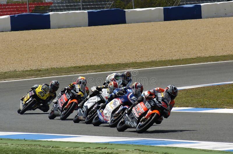 MotoGP 125cc foto de archivo libre de regalías