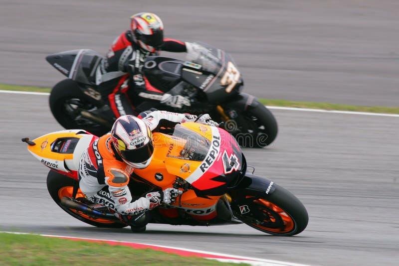 MotoGP 2009 - Andrea Dovizioso stockbilder