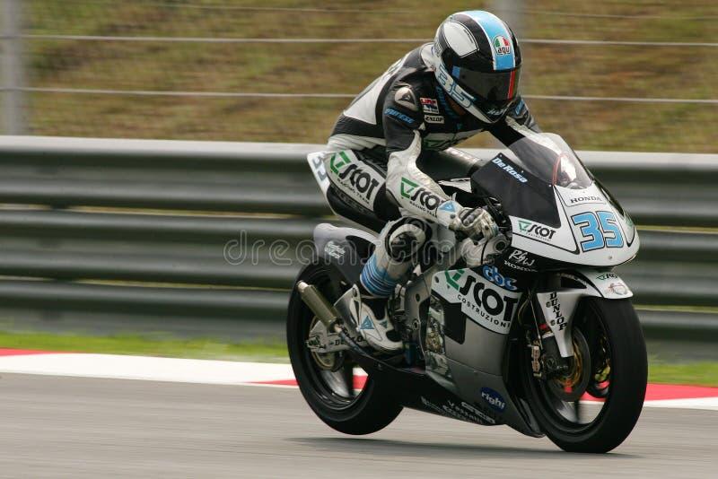 MotoGP 2009 - Raffaele De Rosa fotografia de stock royalty free