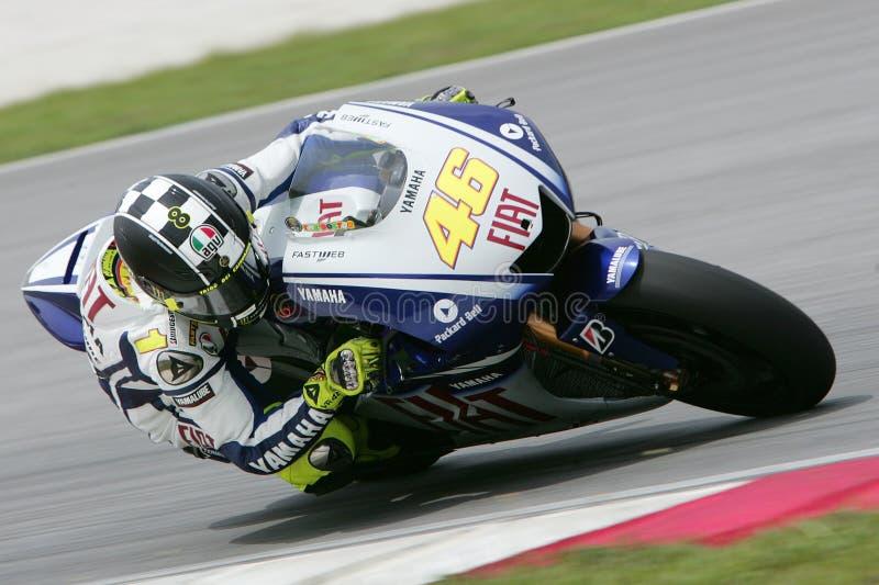 MotoGP 2009 - Valentino Rossi imagen de archivo libre de regalías