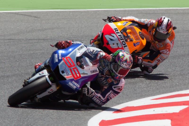 MotoGP. Jorge Lorenzo and Dani Pedrosa royalty free stock images