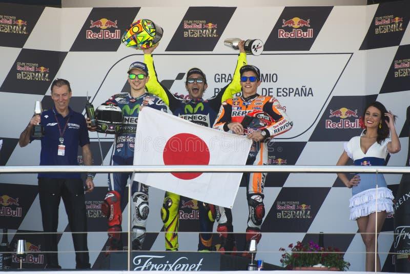 MotoGP Spanien, i Jerez royaltyfri bild