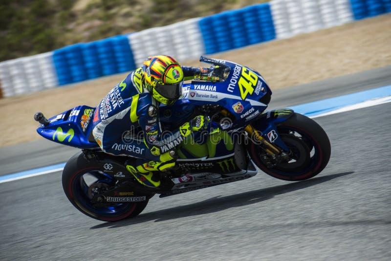MotoGP 2015: Valentino Rossi lizenzfreie stockfotografie
