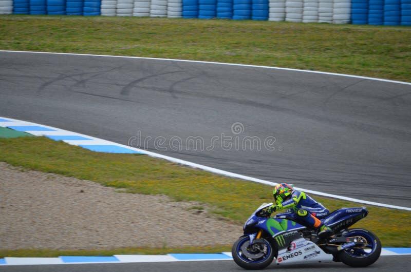 MotoGP Valentino Rossi Jerez Angel Nieto Circuit stock afbeelding