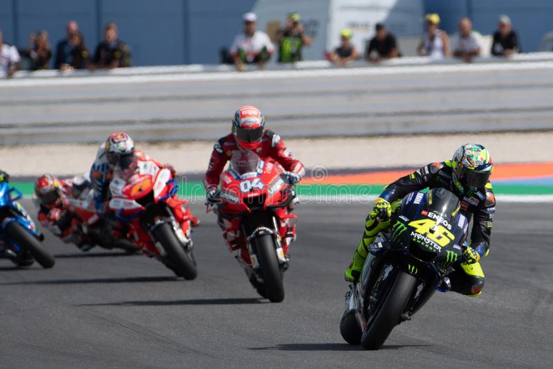 MotoGP VM i söndags Vapen och kapplöpning efter San Marinos och Riminis rörelser arkivfoto
