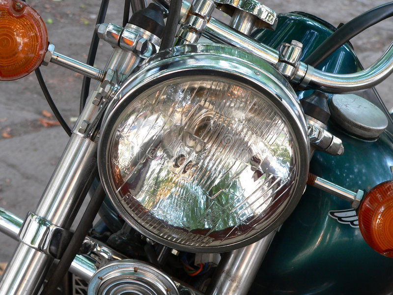 Motoheadlight stock foto's