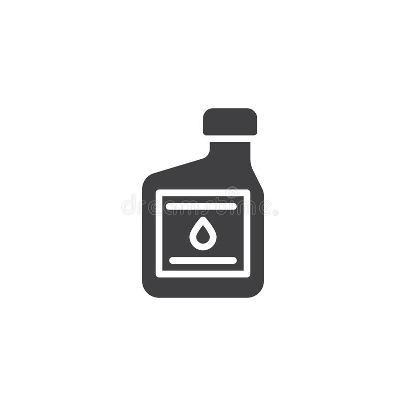 Motoröl-Behältervektorikone lizenzfreie abbildung