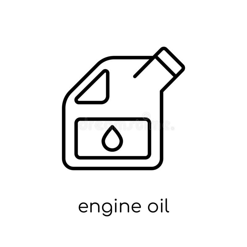 Motorölikone Modisches modernes flaches lineares VektorMotoröl ico stock abbildung