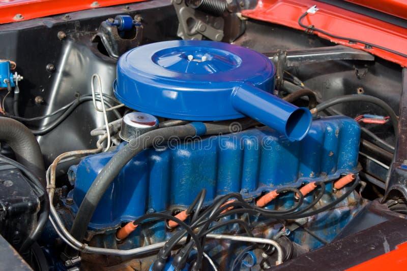 Motor 1966 do cilindro do mustang 6 de Ford fotos de stock royalty free