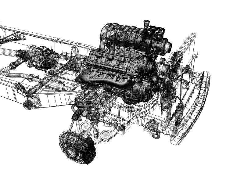 Download Motor stock illustration. Illustration of power, equipment - 3223533