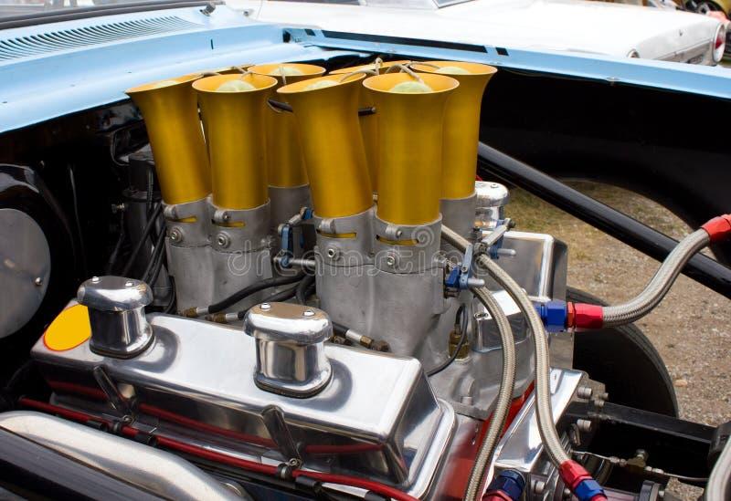 Motor 350 de Chevy Chevrolet de la vendimia foto de archivo libre de regalías