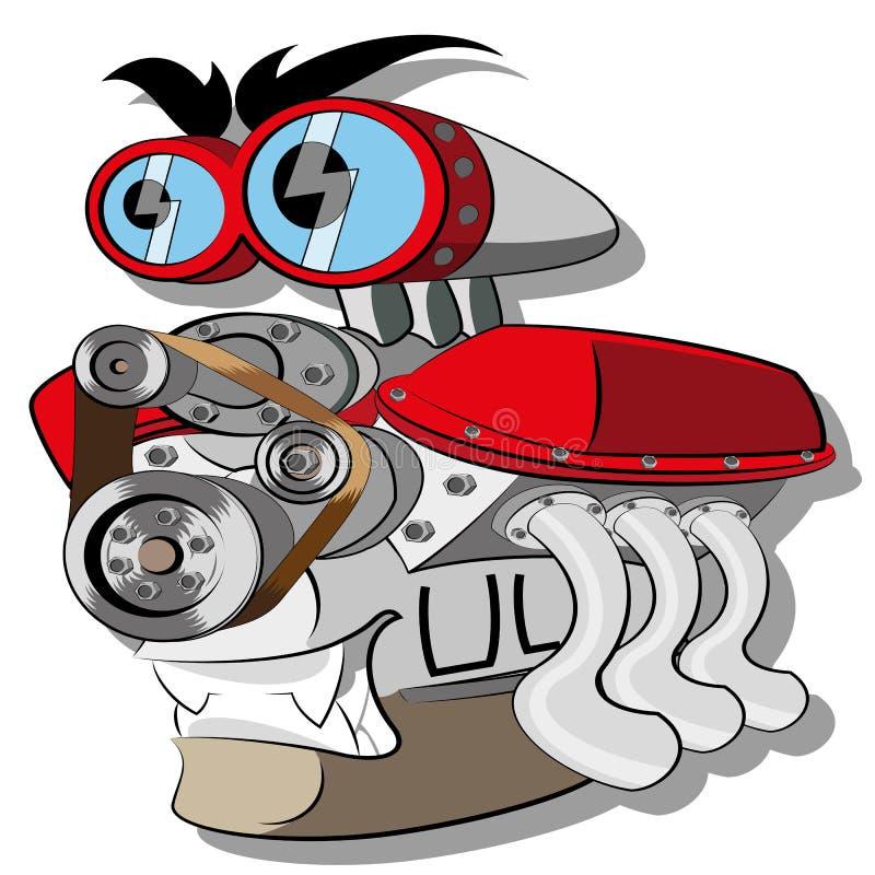 Motor stock de ilustración