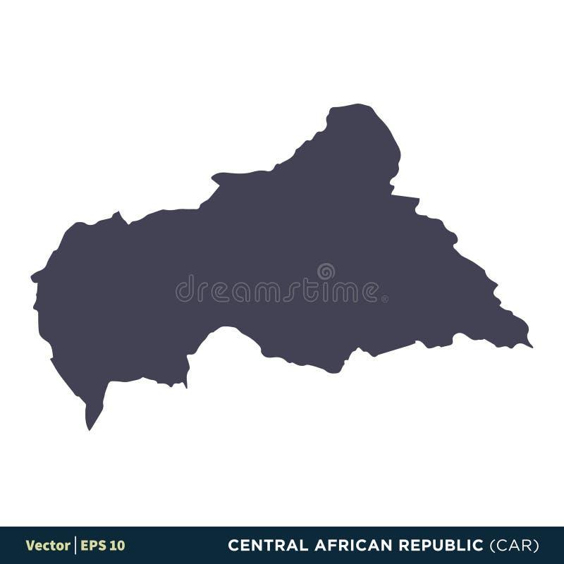 MOTOR- Afrika Länder Republik Zentralafrika zeichnen Ikonen-Vektor Logo Template Illustration Design auf Vektor ENV 10 stock abbildung