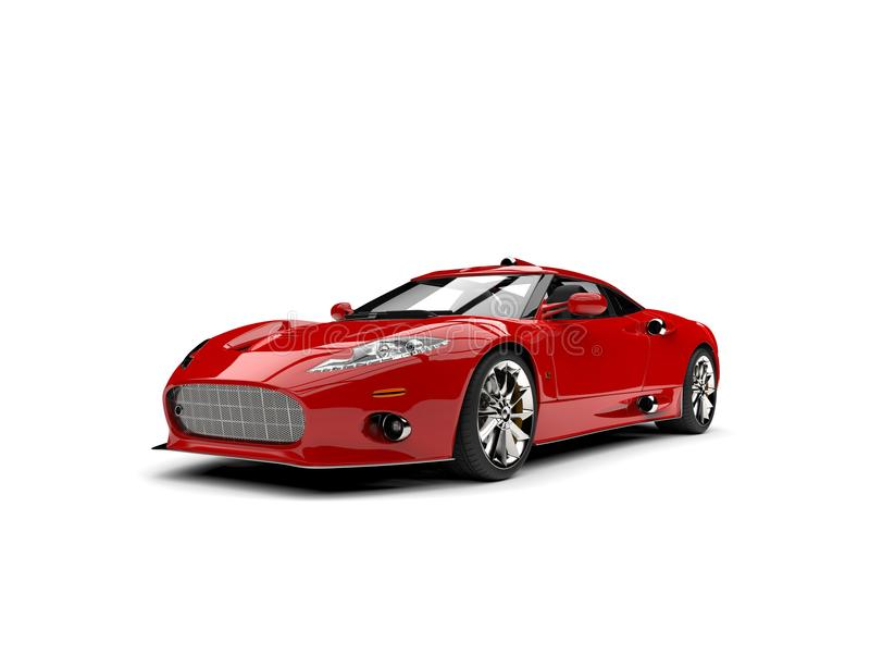 Motor- Atelieraufnahme des modernen roten Supersports lizenzfreie abbildung