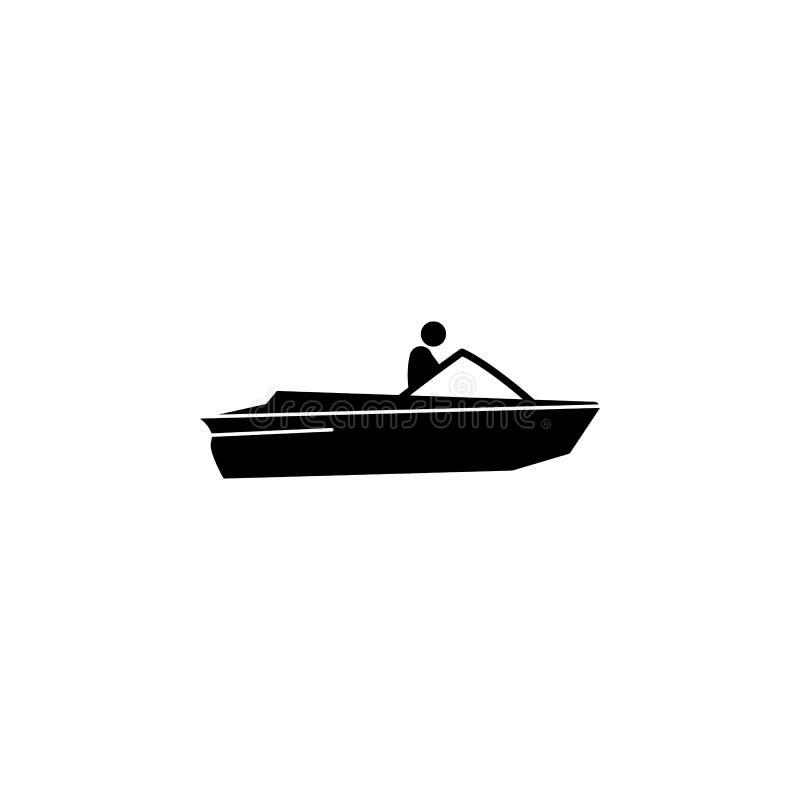 motor, barco, ícone da velocidade Elemento do ícone do transporte da água para apps móveis do conceito e da Web O motor detalhado ilustração royalty free
