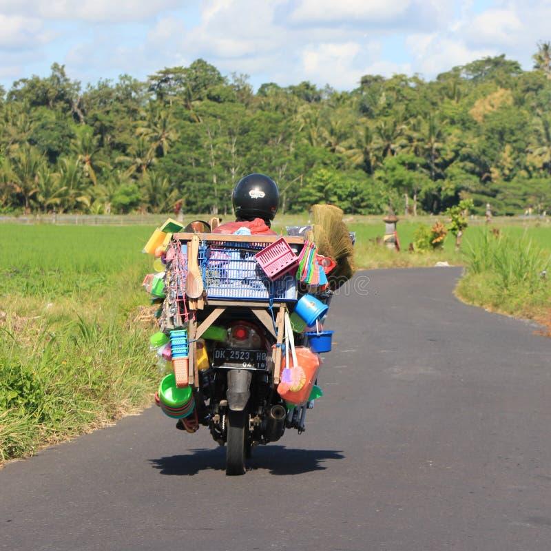 Motor bike in Bali royalty free stock image