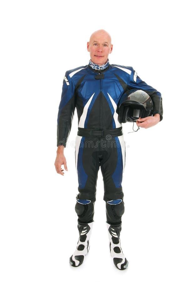 Motor biker. Detail motor biker with black helmet stock image