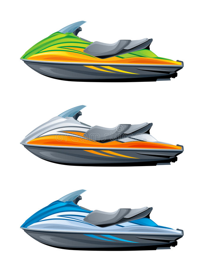 Motor boat. On a white background vector illustration