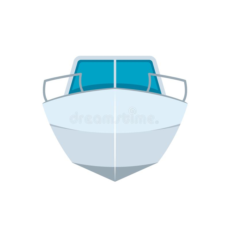 Motor boat front view icon. Motor boat front view. Clipart image isolated on white background royalty free illustration