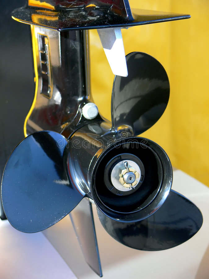 Motor boat propeller royalty free stock photos