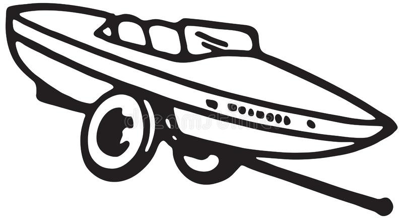 Motor Boat On Trailer royalty free illustration