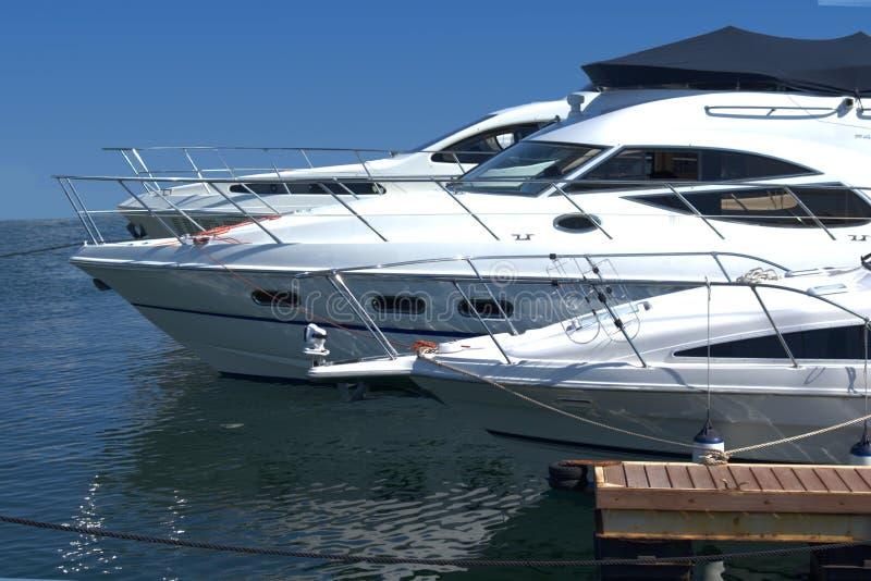 Motor boats stock photography