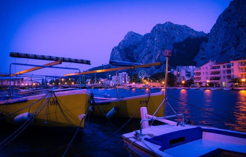 Motor Boats Docked royalty free stock photography