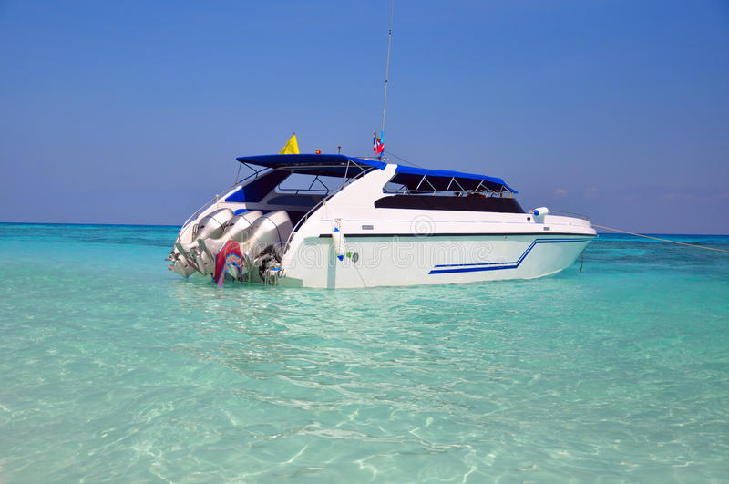 Download Motor Boats On Turquoise Water Of Indian Ocean Stock Image - Image: 17956061