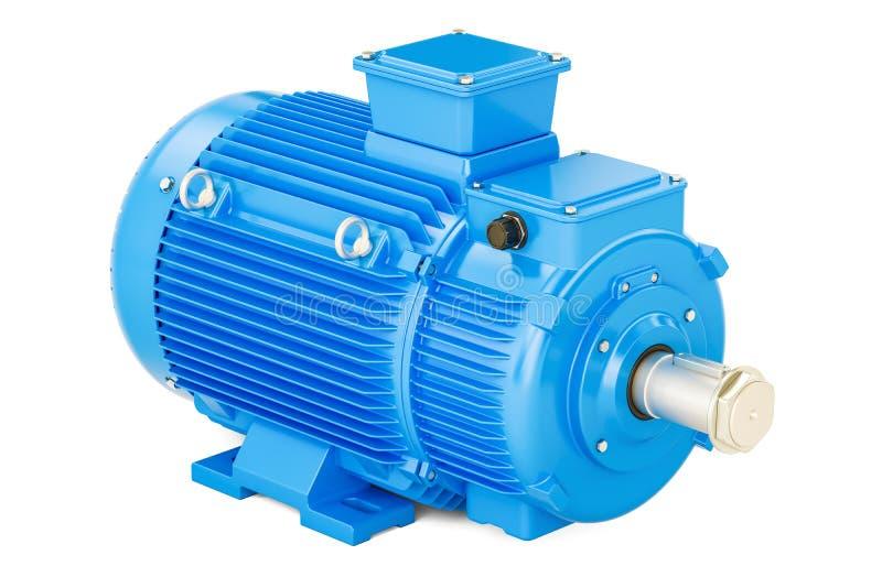 Motor bonde industrial azul, rendição 3D ilustração do vetor