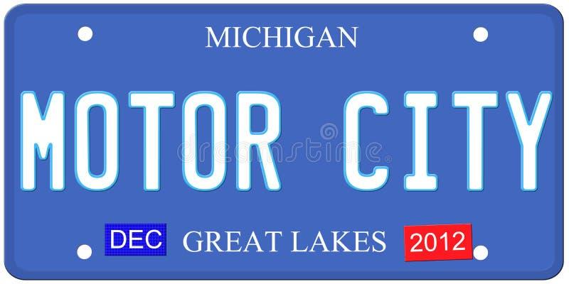 Download Motor City Michigan stock illustration. Image of plate - 26280140