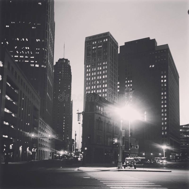 Motor City at midnight royalty free stock images