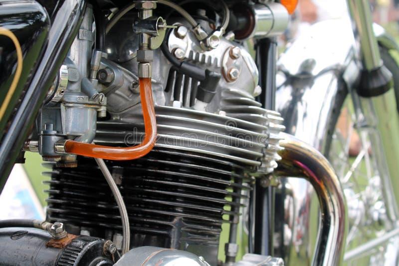 Motor clásico de la motocicleta fotografía de archivo libre de regalías