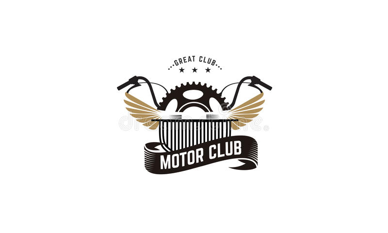Motor club. Great motor club vector illustration