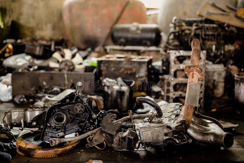 Motor, combust?vel diesel, engrenagem, metal, v?lvula da m?quina imagem de stock