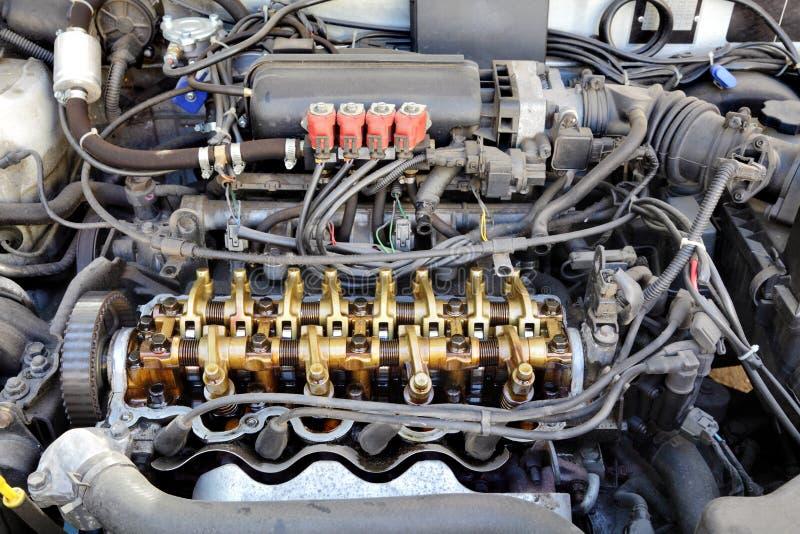 Motor convertido LPG fotografía de archivo libre de regalías