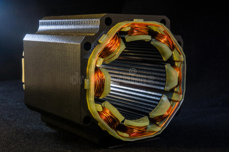 Motor. With cooper windings close-up stock photos