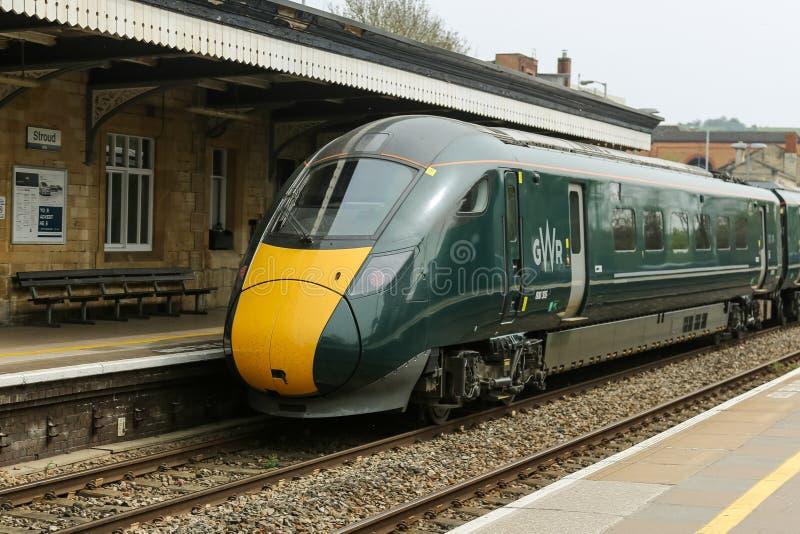 Motor da estrada de ferro de Great Western que arrriving na esta??o foto de stock royalty free