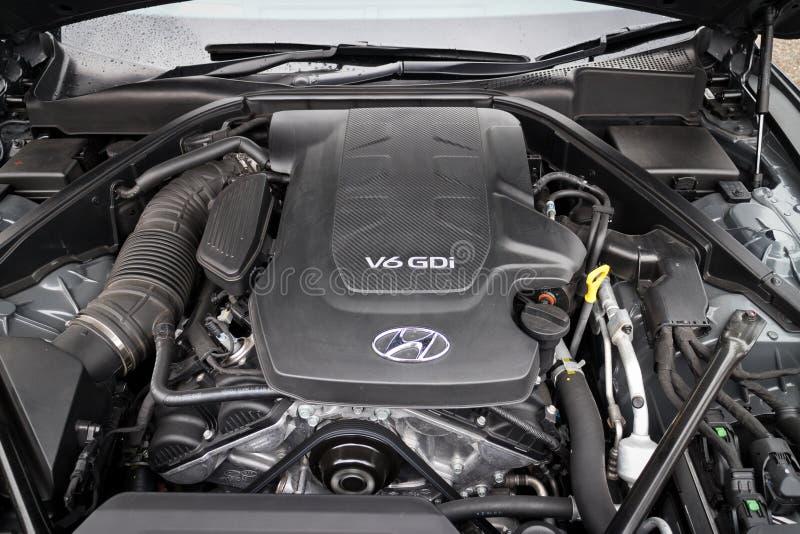 Motor 2015 da GÊNESE de Hyundai imagem de stock