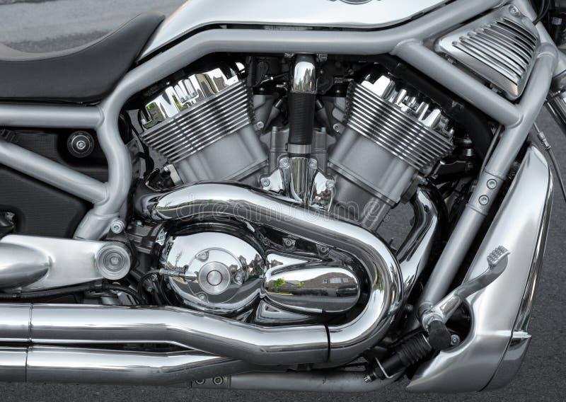Motor da motocicleta fotografia de stock royalty free